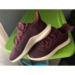 Maroon adidas tubulars